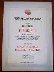 Miasto igmina Biłgoraj wśród najlepszych samorządów