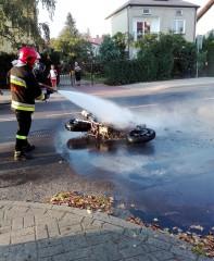 Spłonął motocykl [AKTUALIZACJA]