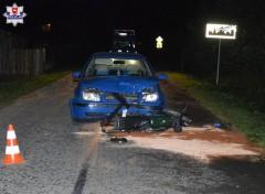 13-letni motorowerzysta zderzył się zosobówką