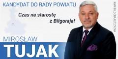 Mirosław Tujak - kandydat do Rady Powiatu