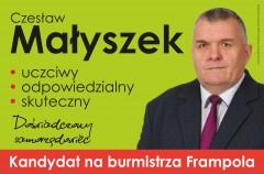Starosta powalczy ofotel burmistrza Frampola