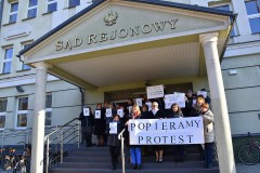 Akcja protestacyjna pracowników sądu
