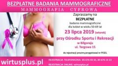 Bezpłatna mammografia cyfrowa