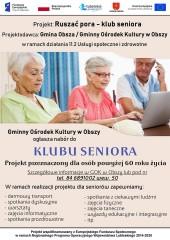 Zapisy chętnych do Klubu Seniora