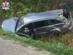 Opel dachował. Kierująca miała ponad 3 promile