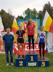 Złoty medal Oliwii wMiędzywojewódzkich Mistrzostwach U16 wlekkiej atletyce