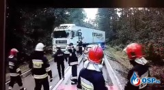 Ledwo wyhamował przed strażakami ipolicjantami