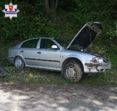 Straciła panowanie nad pojazdem iuderzyła wskarpę