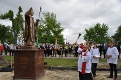Poświęcenie pomnika Jana Pawła II wŁukowej