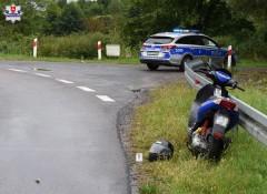 28-letni motorowerzysta trafił do szpitala [AKTUALIZACJA]