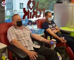 Zebrano 20 litrów krwi - wspólna akcja policji iPCK