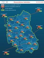 42 nowe przypadki zakażenia, ani jednego na terenie powiatu biłgorajskiego