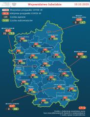 126 aktywnych przypadków COVID-19 wpowiecie