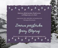 """""""Zimowa pocztówka Gminy Biłgoraj"""""""
