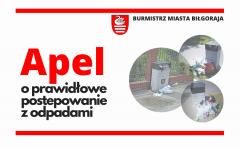 Burmistrz apeluje - nie wyrzucajmy odpadów domowych do ulicznych koszy