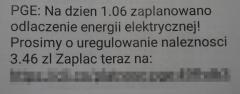 Oszukana na niedopłatę do prądu