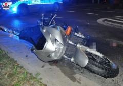 12-latek potrącony przez motocyklistę na przejściu dla pieszych