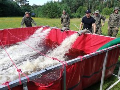Szkolenie żołnierzy ijednostek straży pożarnej