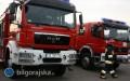 70 strażaków gasiło pożar wNadrzeczu