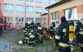 Pożar szkoły wMajdanie - ćwiczenia zgrywające KSRG