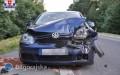 Volkswagenem wfiata. Dwie osoby wszpitalu