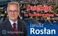 Burmistrz Janusz Rosłan dziękuje za głosy