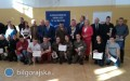 Reprezentacja ONZ-etu na podium Konkursu Wiedzy Obronnej iOchrony Ludności