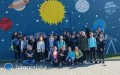 Kosmiczny mural we Frampolu