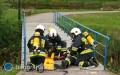 Ćwiczenia strażaków nad zalewem wJózefowie