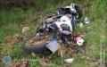Wypadek motocykla, helikopter transportował rannego